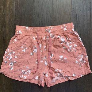 Dynamite Floral Drawstring Shorts